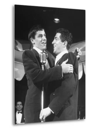 Comedian Jerry Lewis Singing with His Partner Dean Martin, at the Copacabana by Ralph Morse