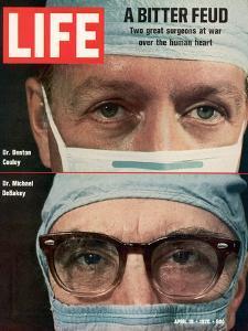 Dr. Denton Cooley and Dr. Michael Debakey, April 10, 1970 by Ralph Morse