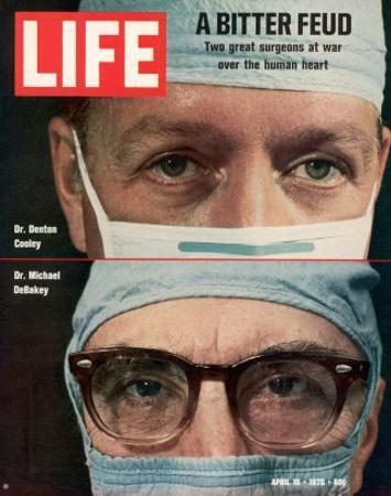 Dr. Denton Cooley and Dr. Michael Debakey, April 10, 1970