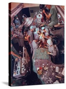 Dr. Michael Debakey, Leading Team in Third Attempt to Install Artificial Heart Pump by Ralph Morse