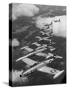 F-84 Jet Planes Flying by Ralph Morse