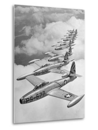 F-84 Jet Planes Flying