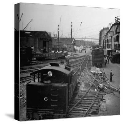 Freight Cars in the New York Dock Co. Yards on Brooklyn N.Y. Waterfront