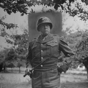 General George S. Patton in Normandy, France by Ralph Morse