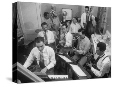 Italo-American La Falce Brothers' Band Rehearsing in the Family Kitchen