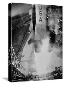 Launch of Saturn 5 Rocket at Cape Kennedy by Ralph Morse