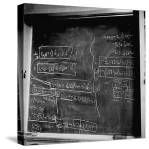 Mathematical Equations on Blackboard in Study Belonging to Albert Einstein by Ralph Morse