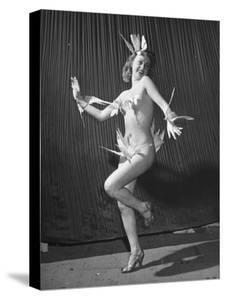 "Nude Burlesque Dancer from ""Folies Bergere"" by Ralph Morse"