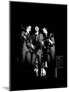 Pop Music Group the Beatles in Concert Paul McCartney, John Lennon, George Harrison by Ralph Morse