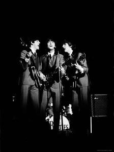 Pop Music Group the Beatles in Concert Paul McCartney, John Lennon, George Harrison by Ralph Morse