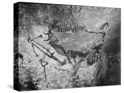 Prehistoric Cave Painting of a Hunting Scene
