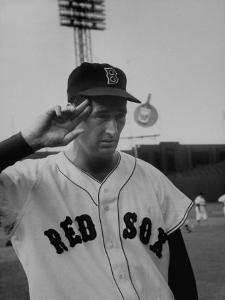 Red Sox Player Ted Williams Suited Up for Playing Baseball by Ralph Morse