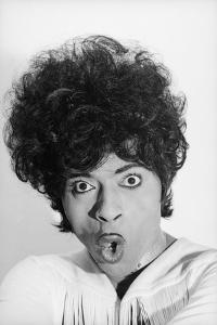 Singer and Musician Little Richard Posing in Mod Fringed Shirt, 1971 by Ralph Morse