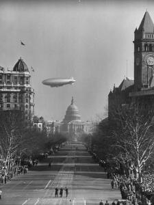 Spectators Enjoying the Celebrations, Capitol Building During Inauguration of Pres. Harry S. Truman by Ralph Morse