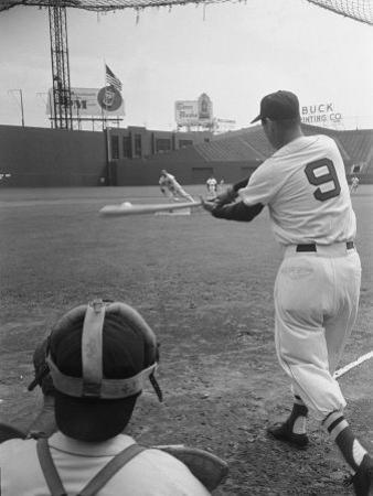Ted Williams Batting at Fenway Park