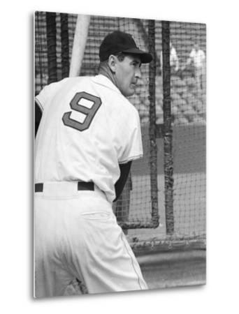 Ted Williams During Batting Practice