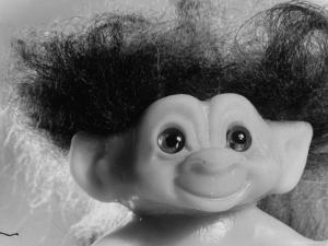 """Three Inch Troll Doll Called """"Dammit"""" Sold by Scandia House Enterprises by Ralph Morse"""