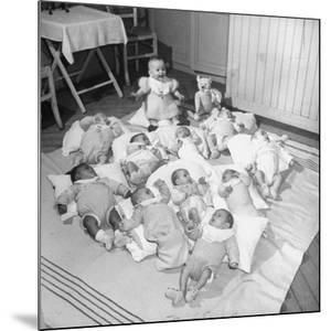 War Babies with American Gi Fathers at 'Cradles of Rouen' Nursery by Ralph Morse