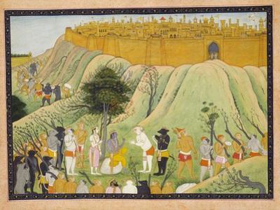 Rama and Lakshmana in Counsel with the Monkey and Bear Allies, C.1800 (Gouache)