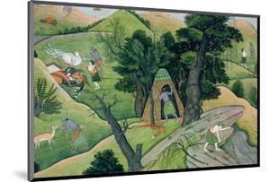 "Rama and Lakshmana Wandering in Search of Sita, from the ""Ramayana"", Kangra, Himachal Pradesh, 1780"