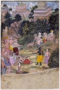 Rama Chastises the Dying Vali