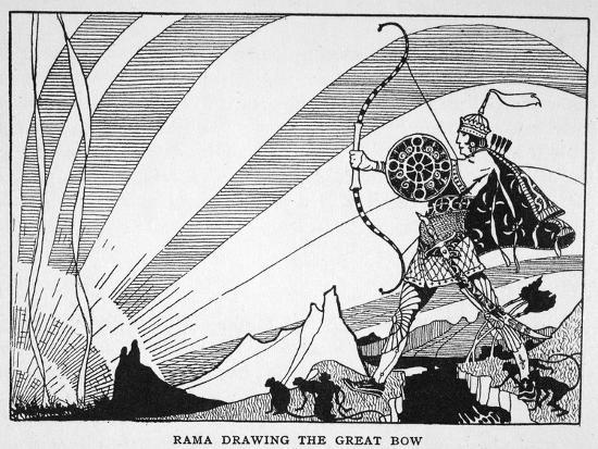 'Rama Drawing the Great Bow', 1925-Unknown-Giclee Print