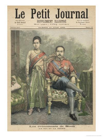 Rama V Known as Chulalongkorn King of Siam and His Wife-Henri Meyer-Giclee Print