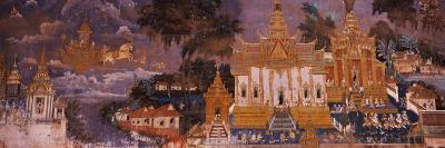 Ramayana Murals in a Palace, Royal Palace, Phnom Penh, Cambodia--Photographic Print