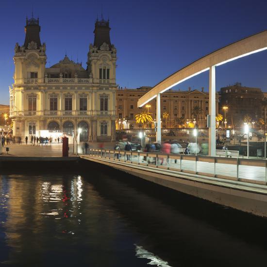 Rambla del Mar at Port Vell, Barcelona, Catalonia, Spain, Europe-Markus Lange-Photographic Print