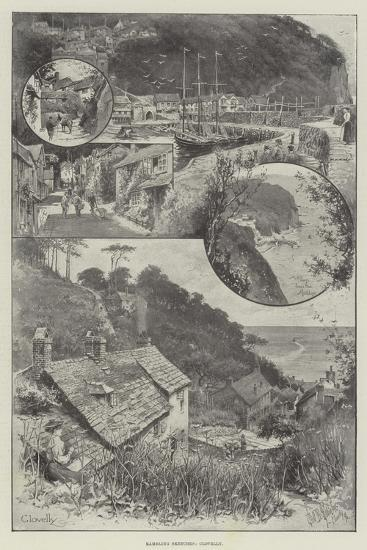 Rambling Sketches, Clovelly--Giclee Print