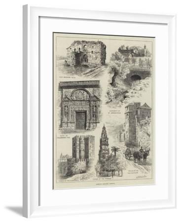 Rambling Sketches, Cordova-Alfred Robert Quinton-Framed Giclee Print
