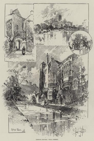 Rambling Sketches, Wells, Somerset-Herbert Railton-Giclee Print