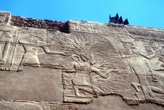Rameses II and the Tree of Life, Karnak, Egypt, 13th Century Bc--Photographic Print