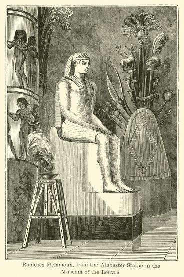Rameses Meiamoun, from the Alabaster Statue in the Museum of the Louvre--Giclee Print