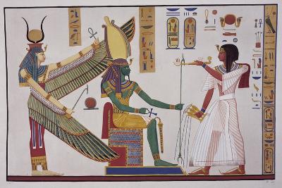 Ramesses Iv in Front of God Ptah-Sokari-Osiris-Ippolito Rosellini-Giclee Print