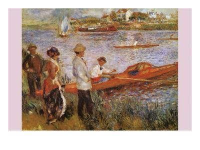 Rameurs a Chatou-Edouard Manet-Art Print