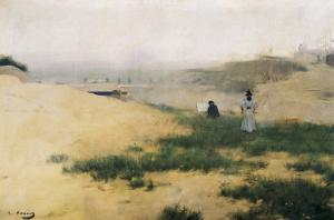 Landscape with Figures by Ramon Casas Carbo
