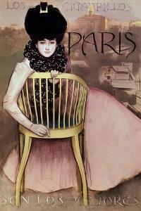 Cartel De Los Cigarrillos Paris Son Los Mejores, 1901 by Ramon Casas
