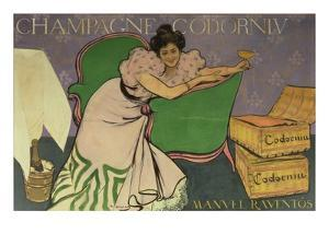 Poster Advertising Codorniu Champagne (Colour Litho) by Ramon Casas i Carbo