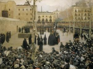 Public Execution by Garrote, 1894 by Ramon Casas i Carbo