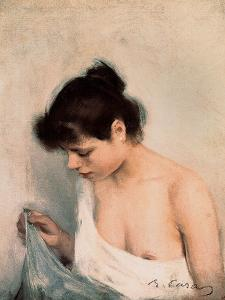 Study, C.1893 by Ramon Casas i Carbo