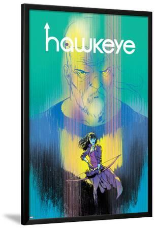Hawkeye #1 Cover Featuring Hawkeye, Bishop, Kate by Ramon Perez