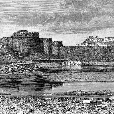 Ramparts of the Town and Citadel, Golconda, India, 1895--Giclee Print