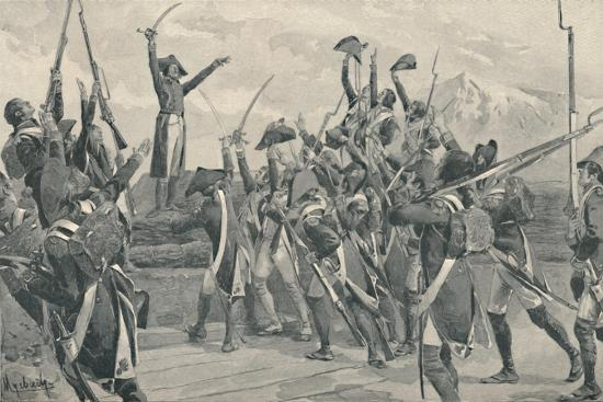 'Rampon's Soldiers Taking The Oath Never To Surrender', 1796, (1896)-Unknown-Giclee Print