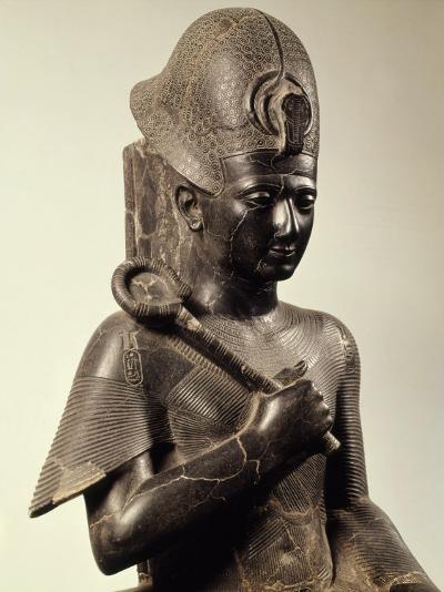Ramses II, 1279-13 BC 19th Dynasty New Kingdom Egyptian Pharaoh, Seated on Throne, Granite--Photographic Print