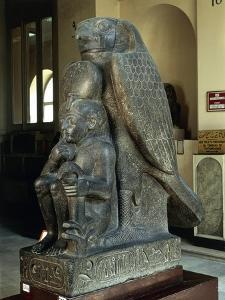 Ramses Ii as a Child with God Hurum, from Tanis
