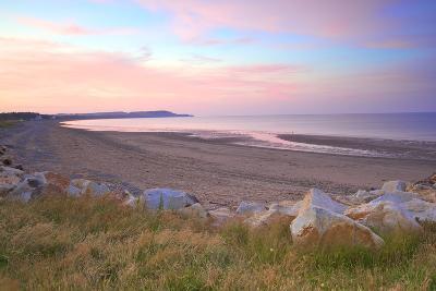 Ramsey Beach at Sunset, Isle of Man, Europe-Neil Farrin-Photographic Print