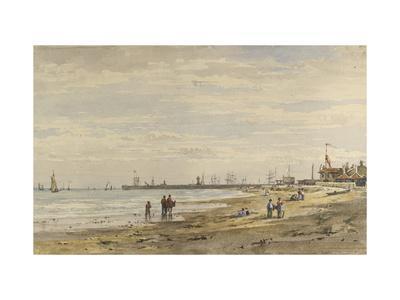 Ramsgate Pier, August 1838-Caroline Davidson-Giclee Print
