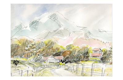 Ranch in Plateau, Scenery of Spring-Kenji Fujimura-Art Print