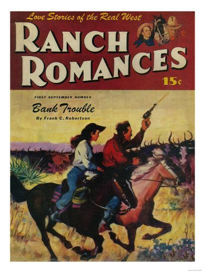 Ranch Romances Magazine Cover-Lantern Press-Art Print